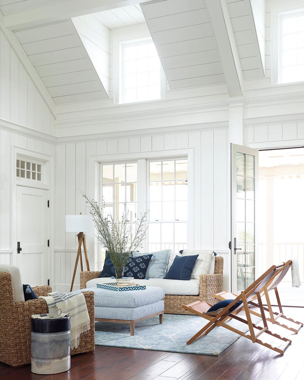 ห้องรับแขกสวยๆ แบบที่ 7 ห้องรับแขกแนวชายฝั่งทะเล (Coastal Style)