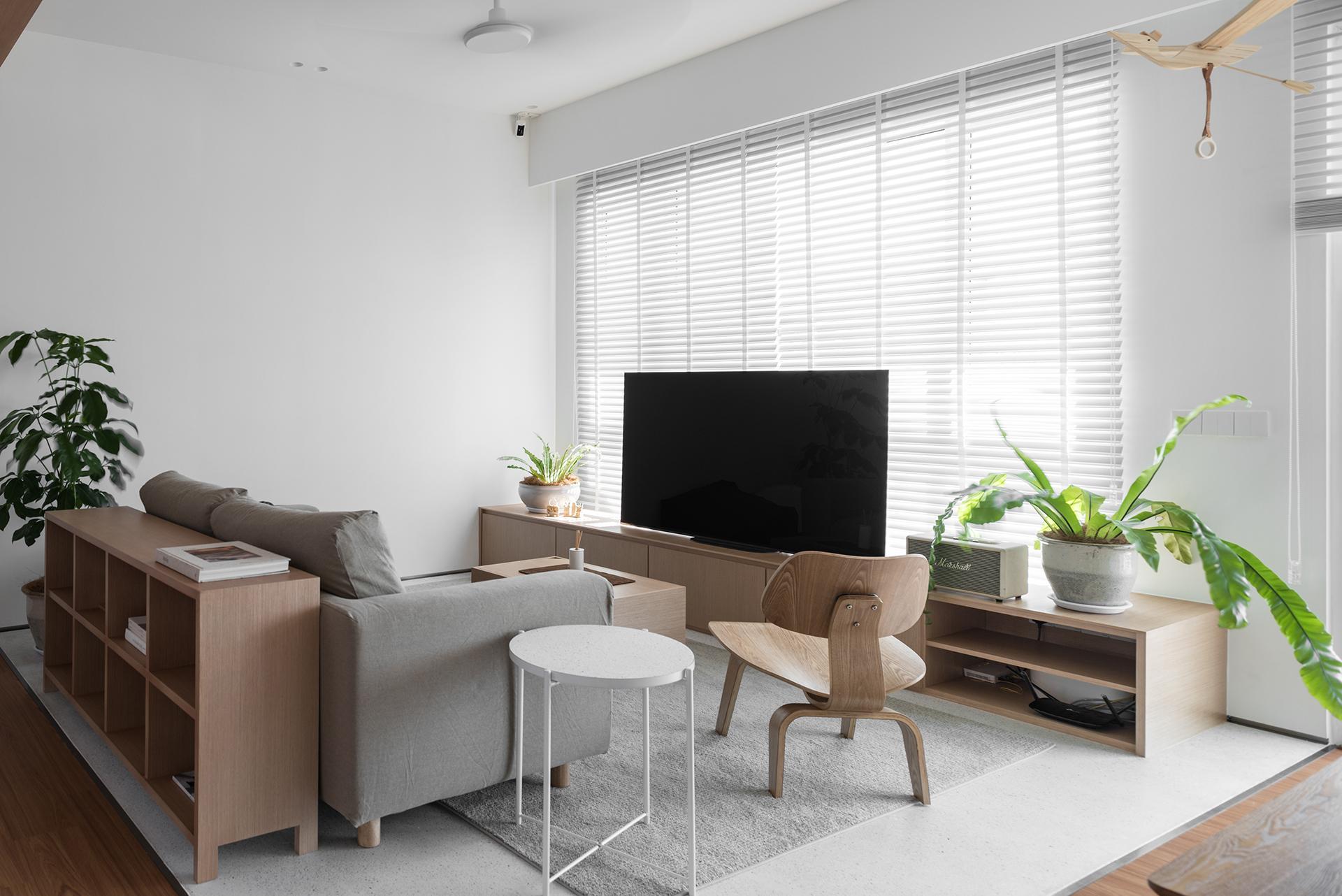 ห้องรับแขกสวยๆ แบบที่ 8 ห้องรับแขกสไตล์มูจิ (Muji-inspired style)