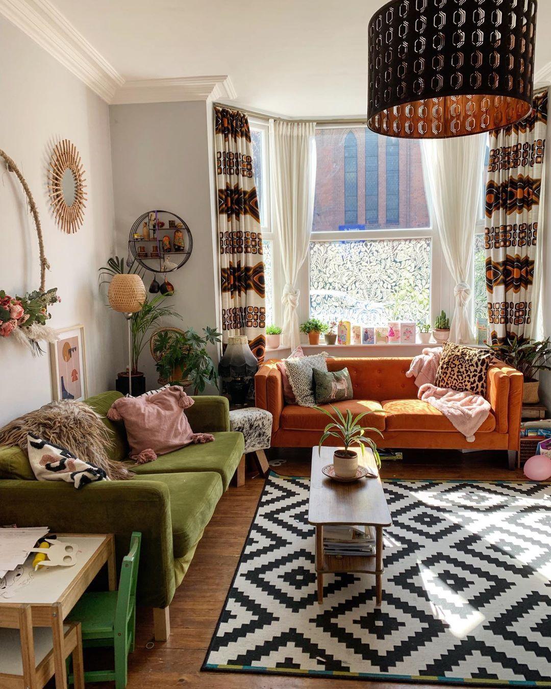 ห้องรับแขกสวยๆ แบบที่ 10 ห้องรับแขกสไตล์โบฮีเมียนสำหรับคนรักอิสระ (Bohemian Style)